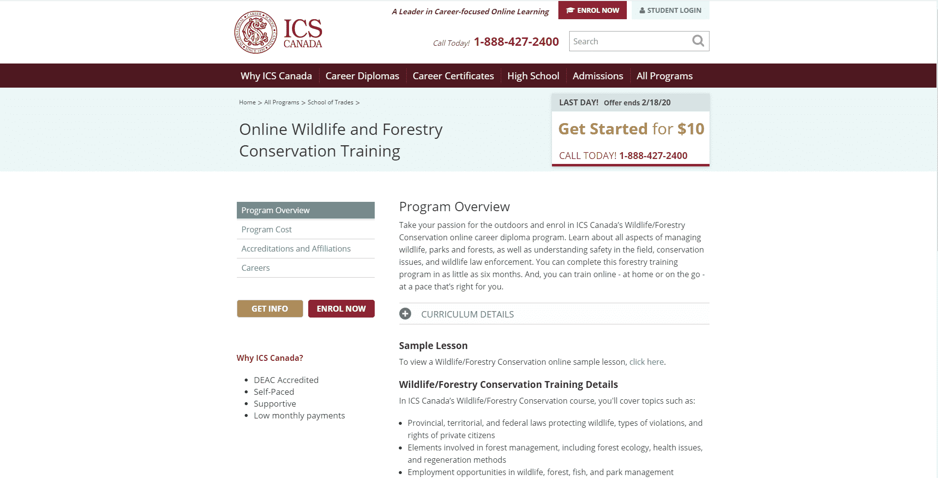ICS Canada Learn Conservation Lessons Online