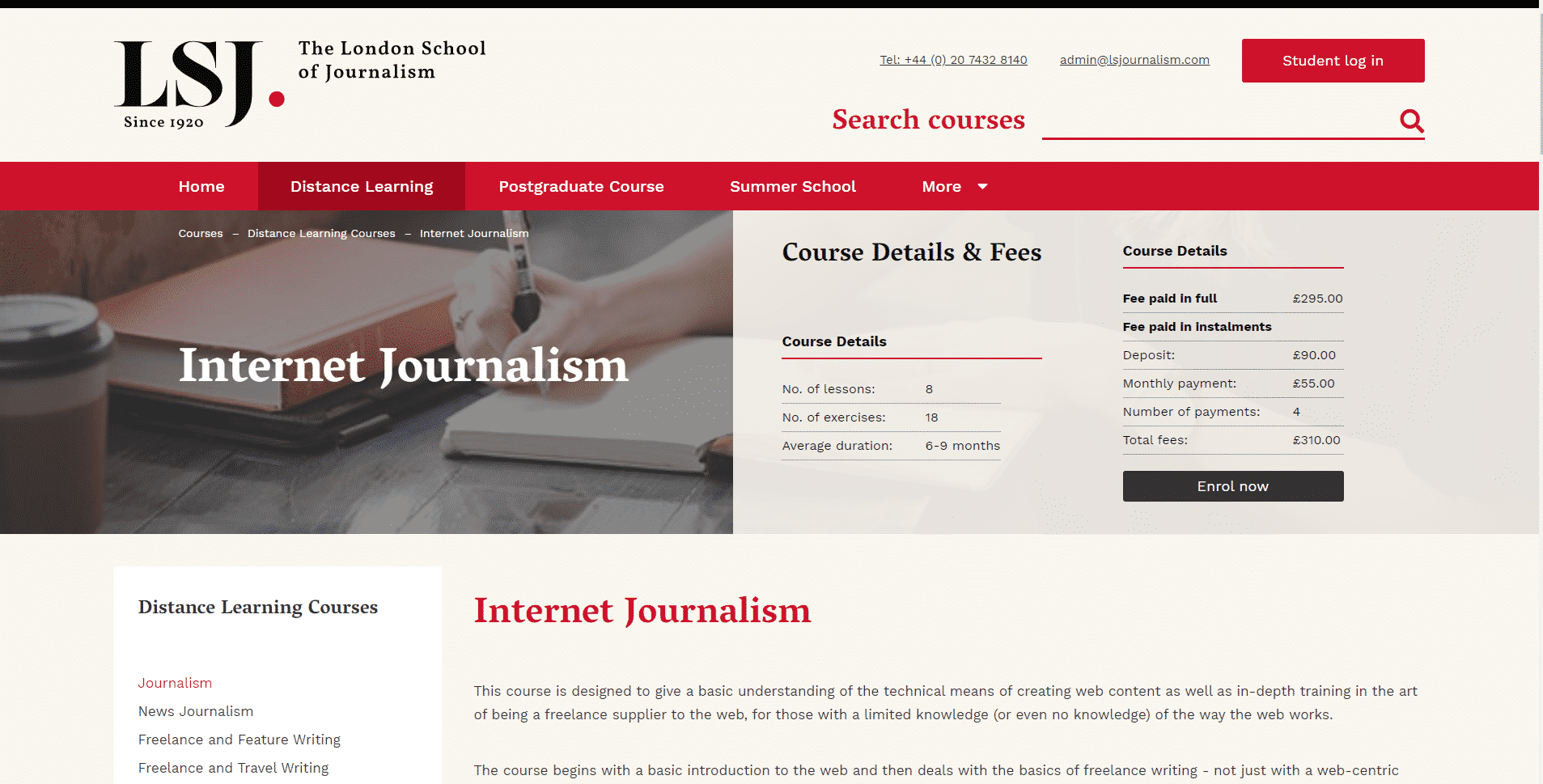 LSJ Learn Journalism Lessons Online
