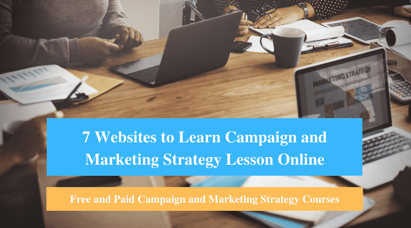 Learn Campaign and Marketing Strategy Lesson Online