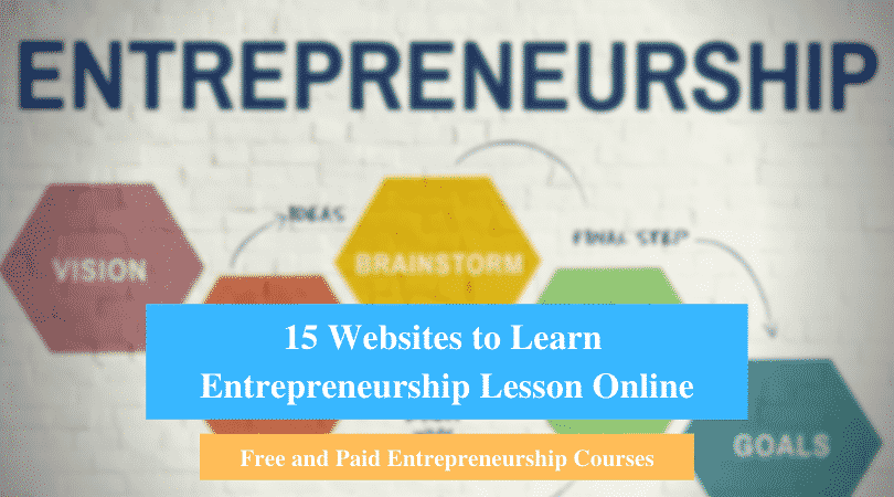Learn Entrepreneurship Lesson Online