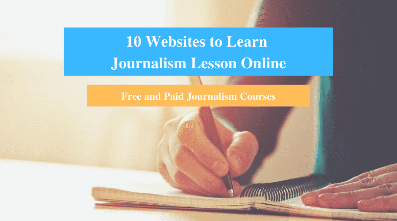 Learn Journalism Lesson Online