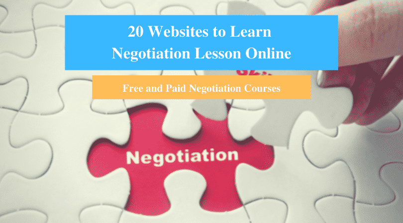 Learn Negotiation Lesson Online