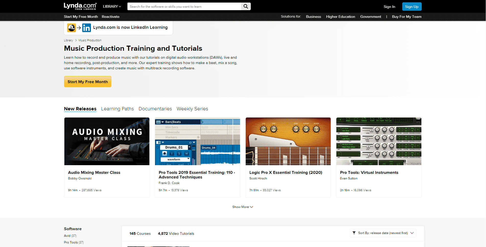 Lynda.com – Music Production and Beatsmaking Online