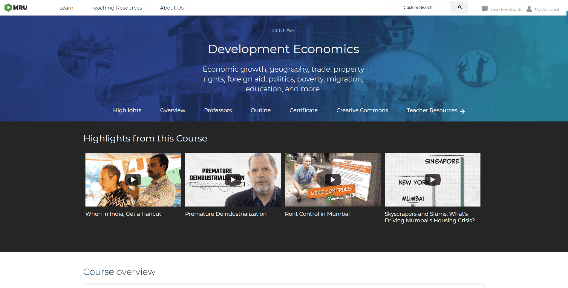 M.R.U Learn Economic Lessons Online