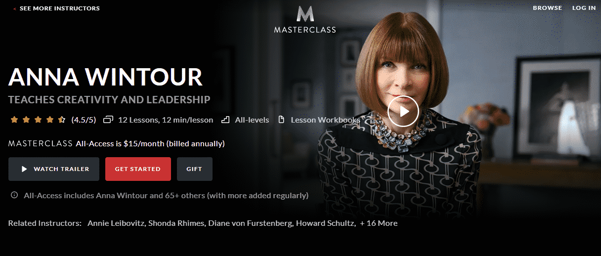 MasterClass Anna Wintour Learn Leadership Lessons Online