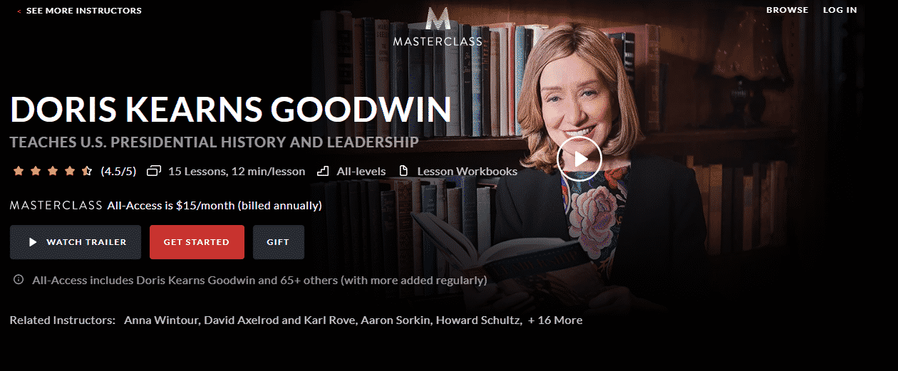 MasterClass Doris Kearns Goodwin Learn Leadership Lessons Online