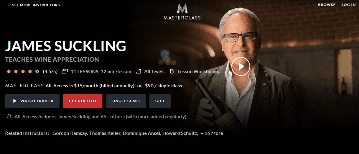 MasterClass James Suckling Learn Wine Appreciation Lessons Online