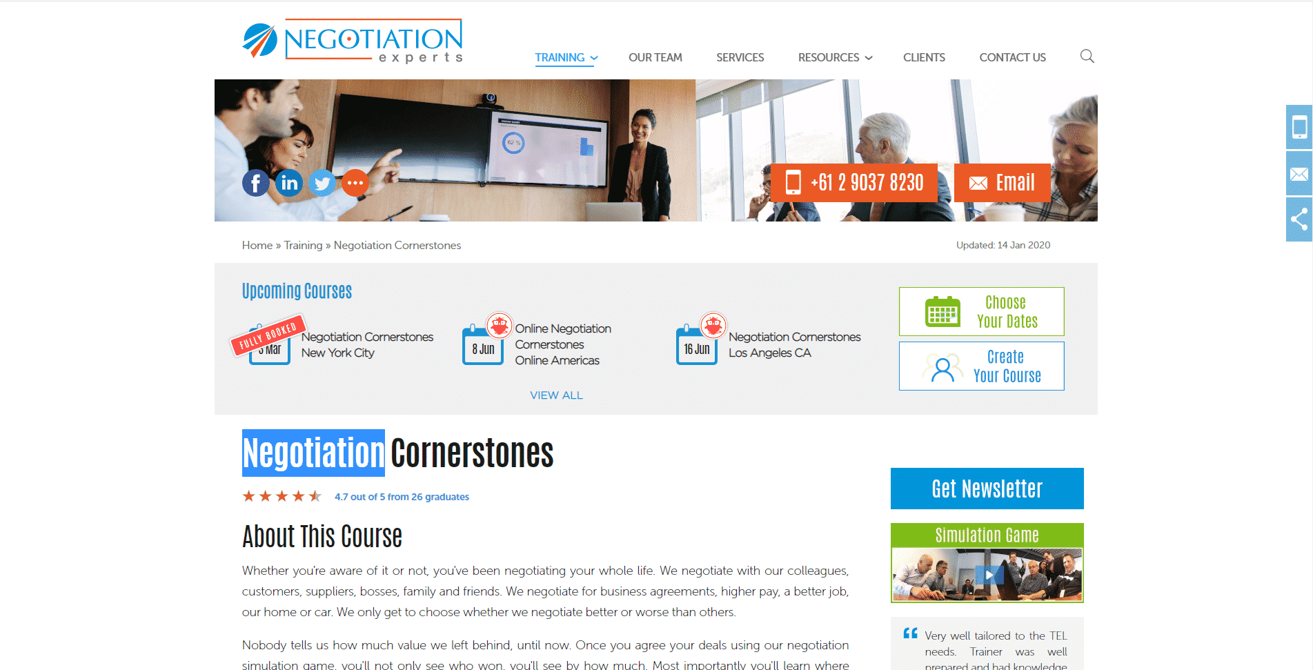Negotiation Experts Learn Negotiation Lessons Online
