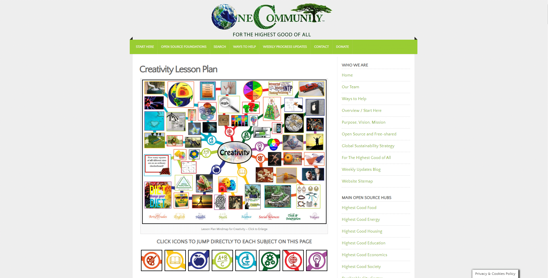 One Community Global Learn Creativity Lessons Online