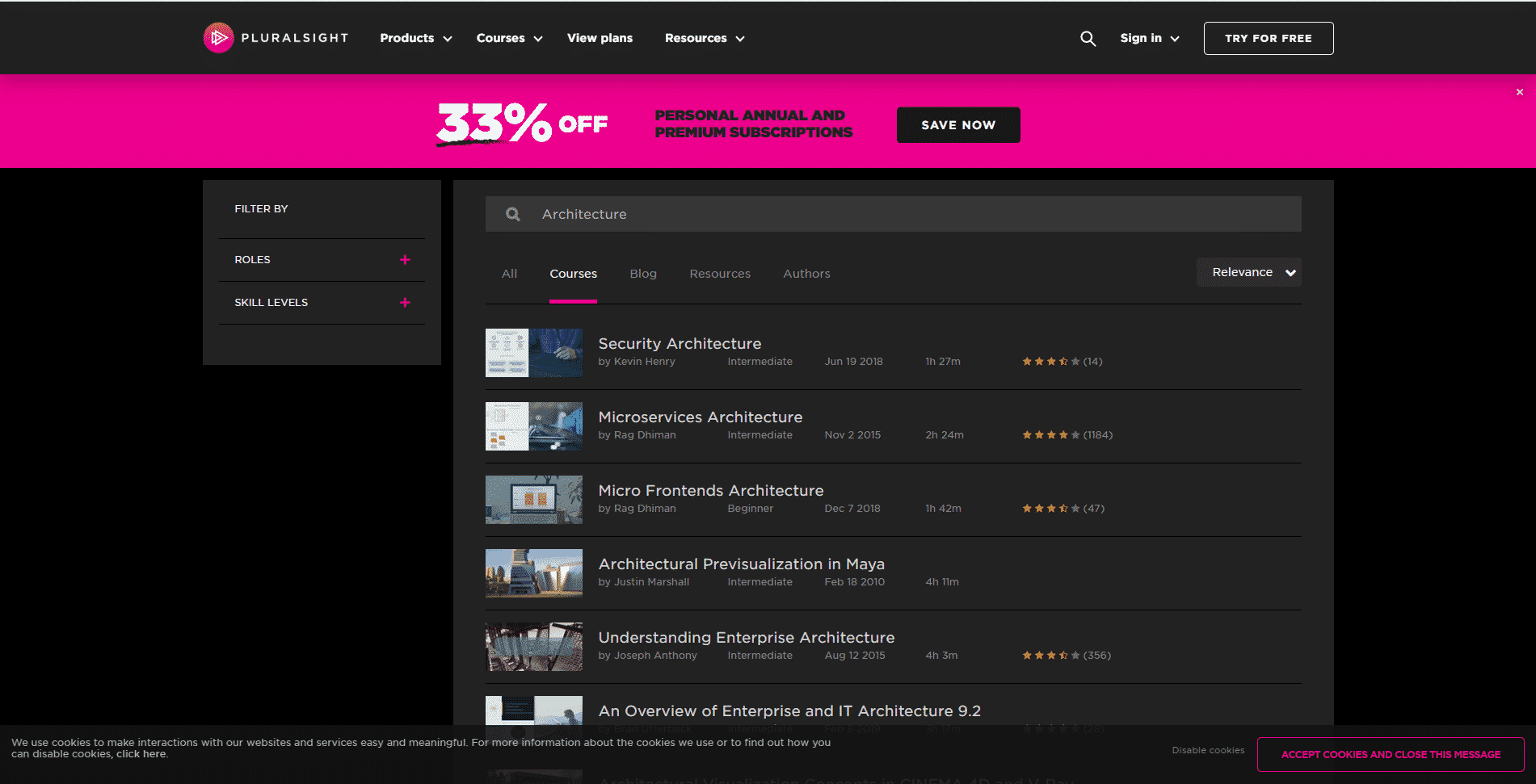 Pluralsight Learn Design and Architecture Lessons Online