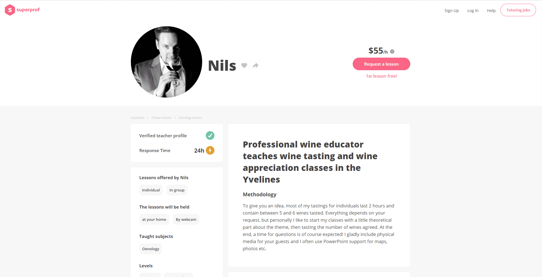 Superprof Learn Wine Appreciation Lessons Online