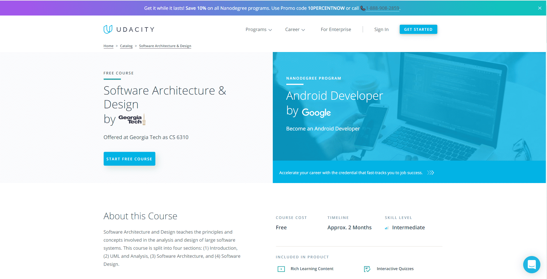 Udacity Learn Design and Architecture Lessons Online