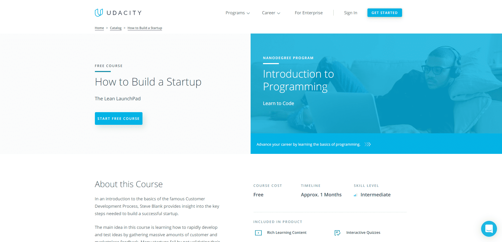 Udacity Learn Entrepreneurship Lessons Online