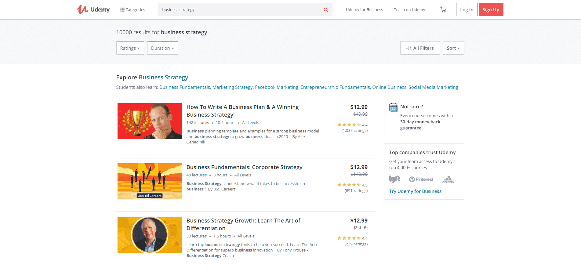 Udemy Learn Business Strategy Lessons Online