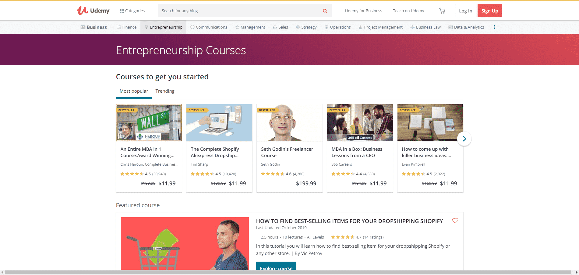 Udemy Learn Entrepreneurship Lessons Online