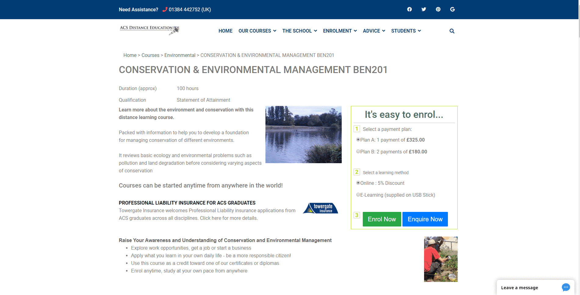 acsedu Learn Conservation Lessons Online