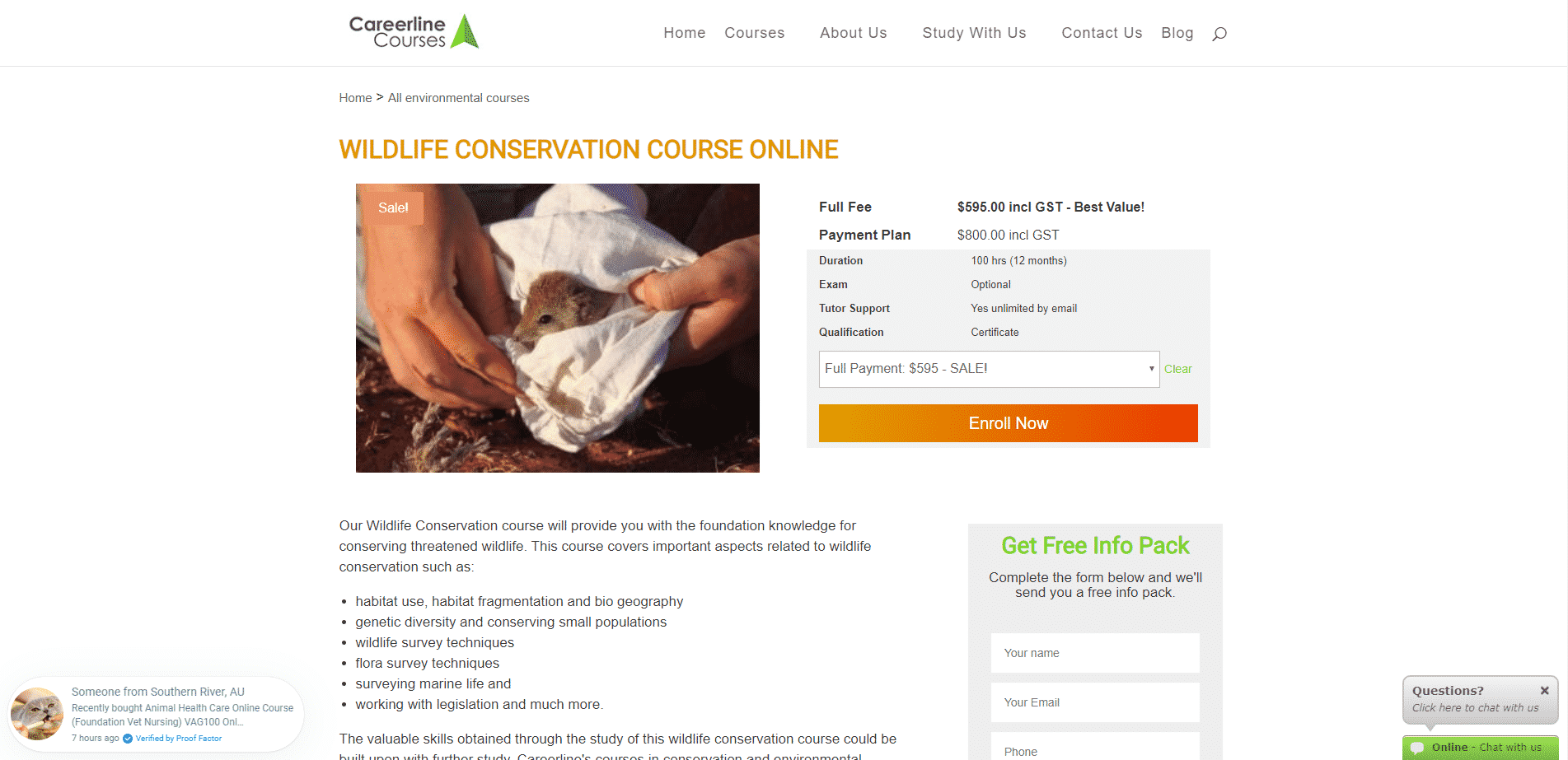 careerlinecourses Learn Conservation Lessons Online