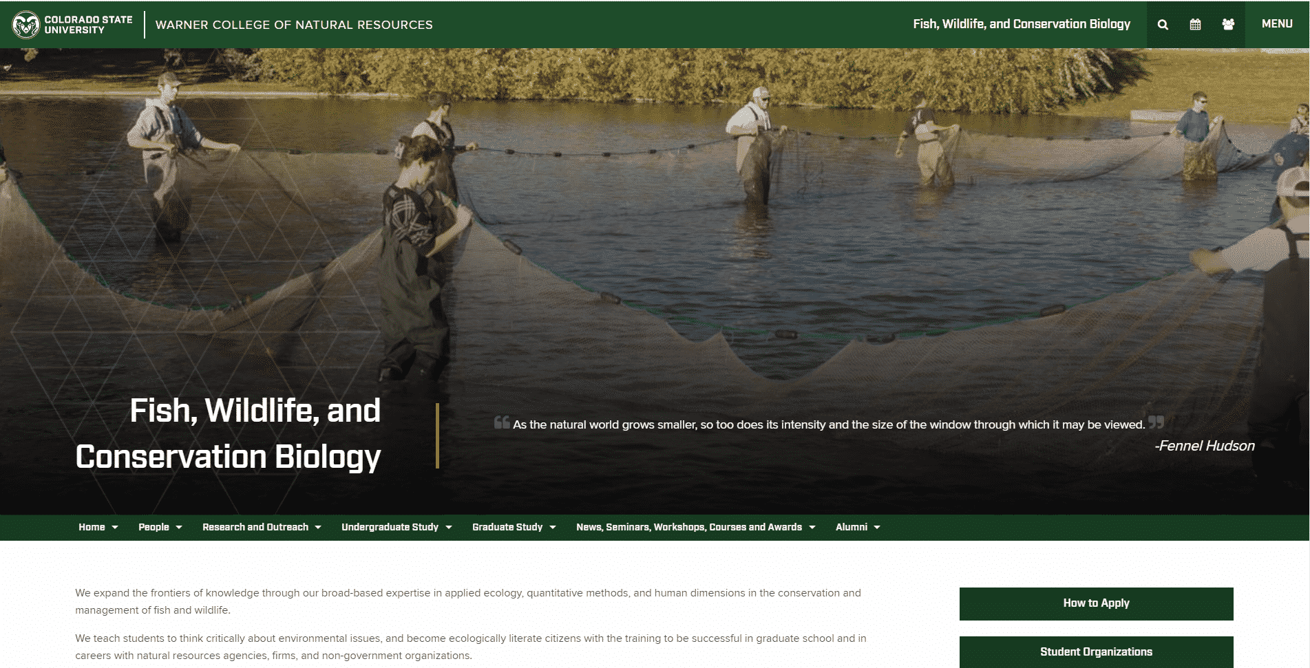 colostate Learn Conservation Lessons Online