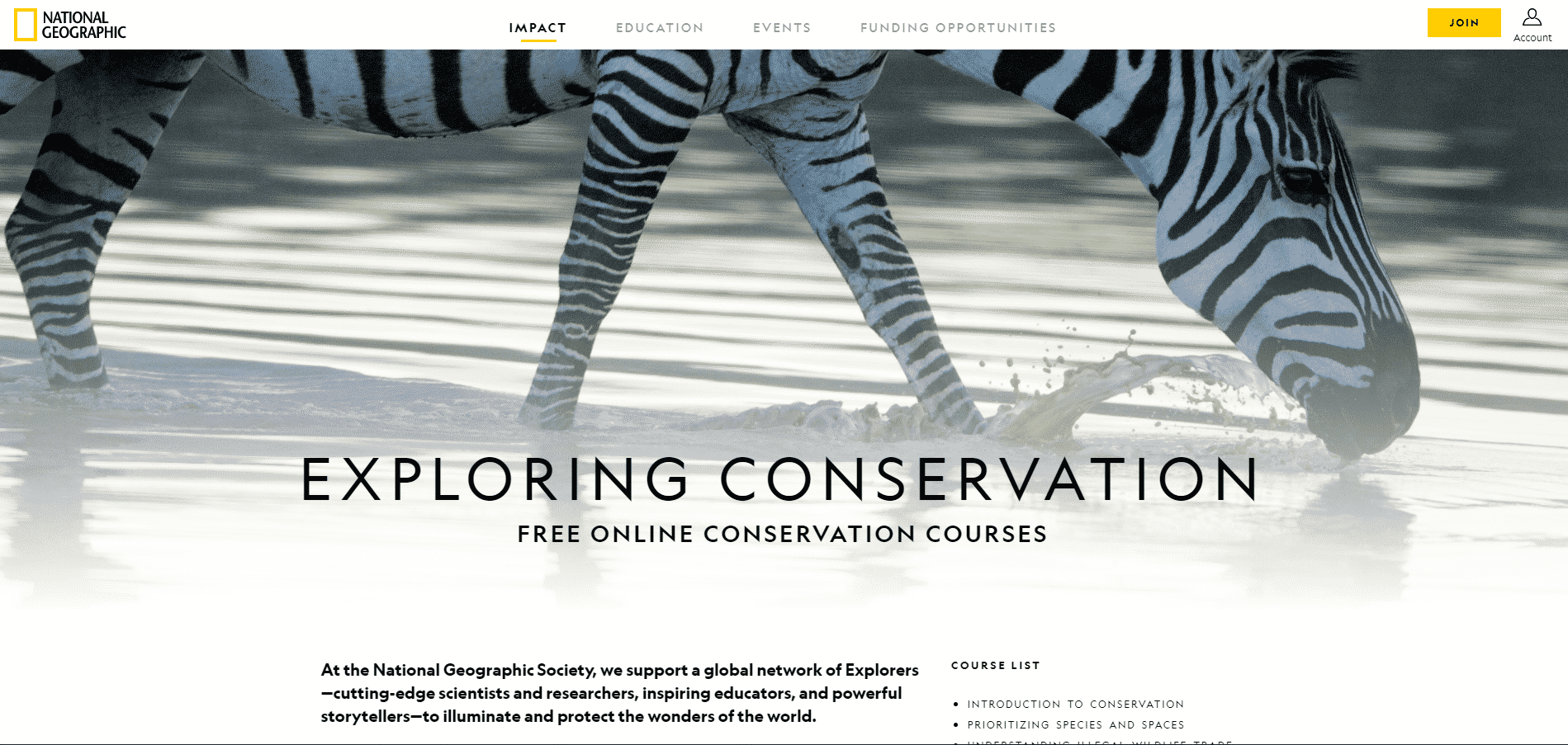 nationalgeographic Learn Conservation Lessons Online