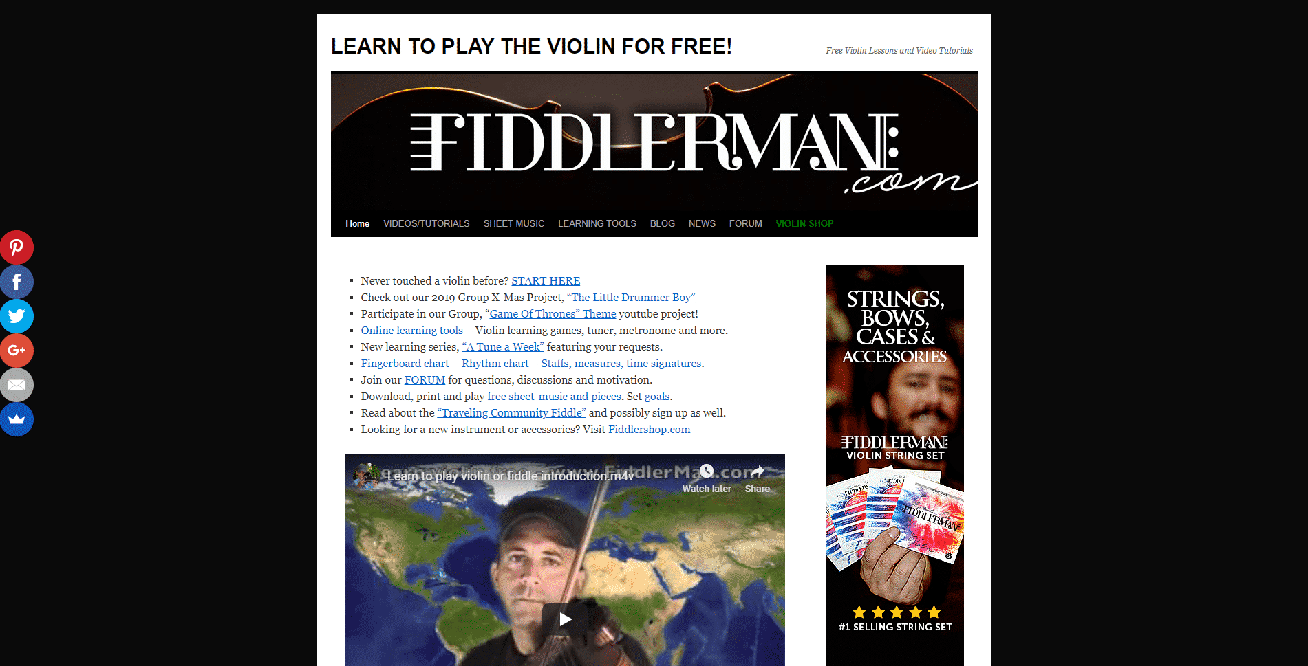 Fiddlerman Violin Lessons Online