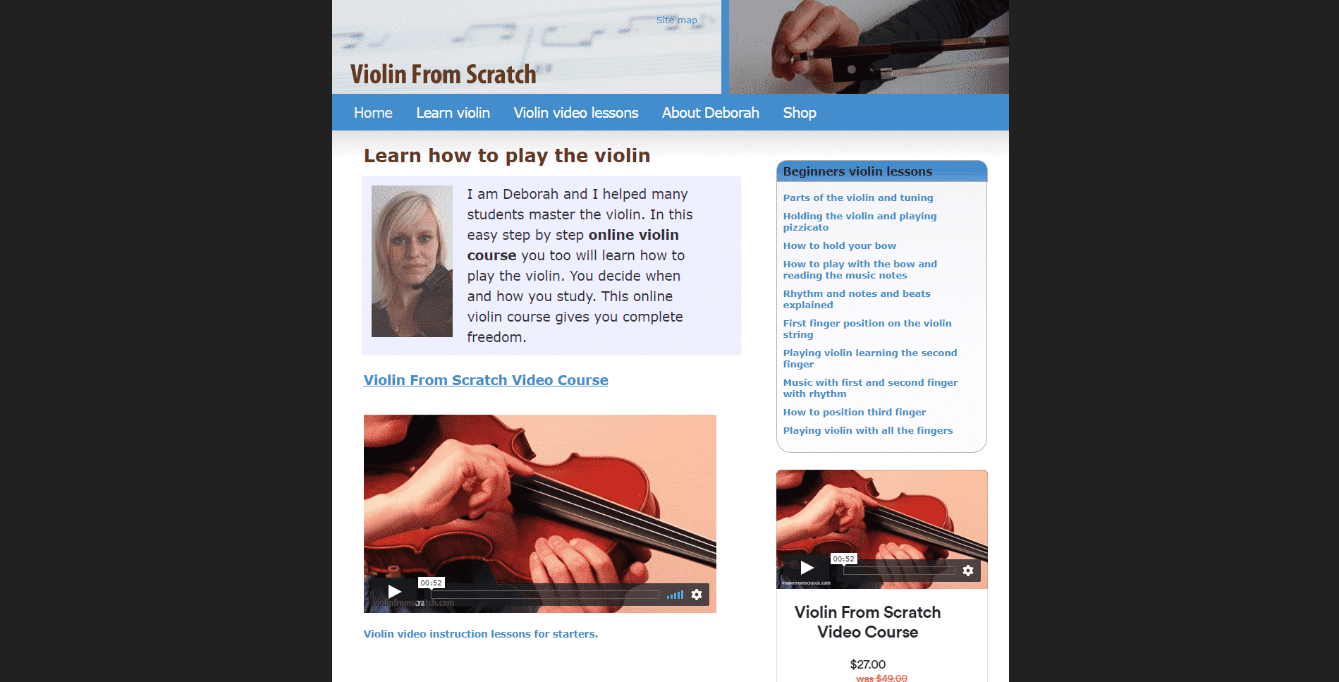 Violins From Scratch Violin Lessons Online