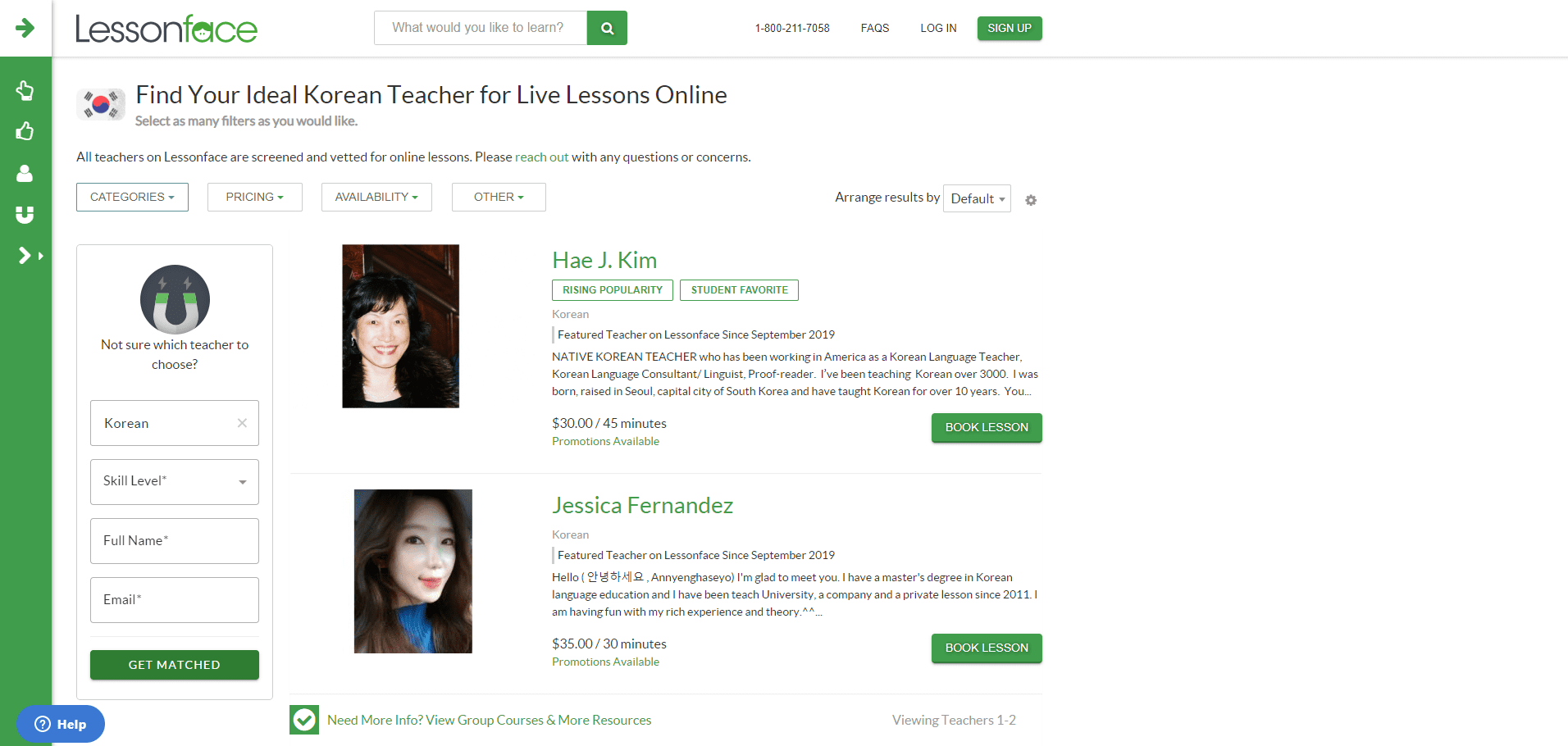 lessonface learn korean lessons online