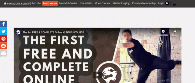 6DragonsKungFu Learn Kung Fu Lessons Online