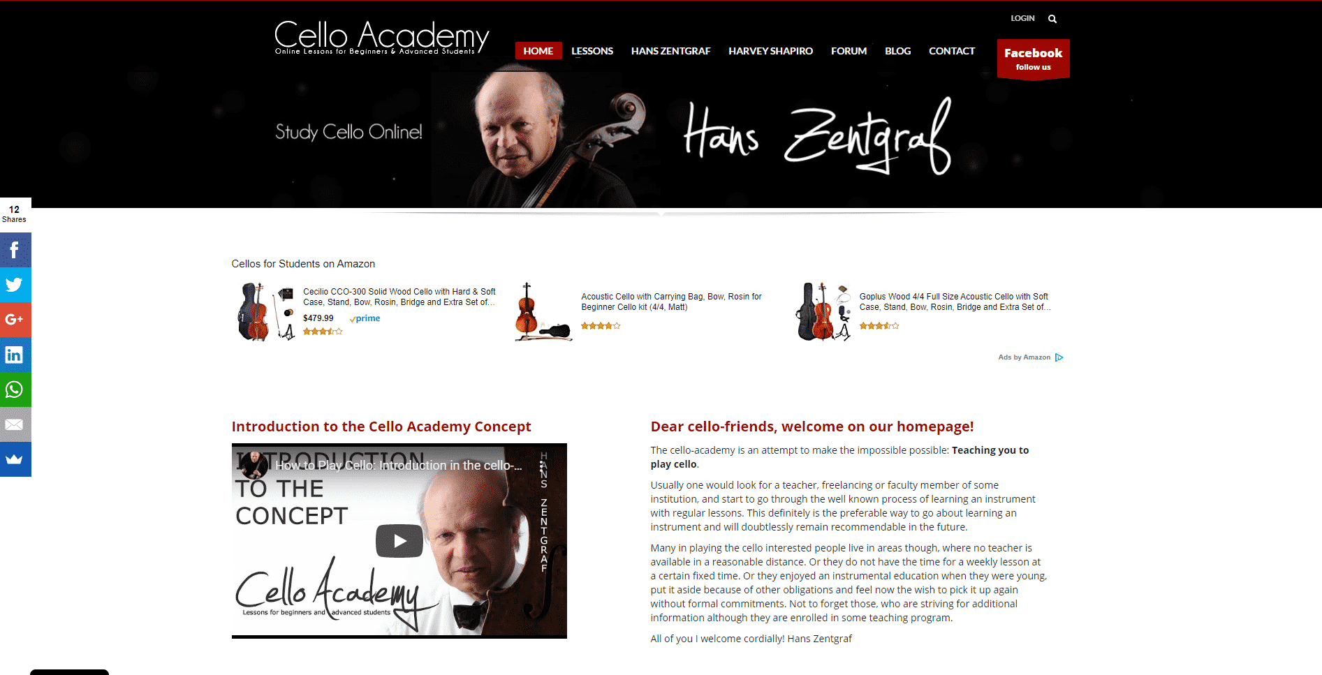 Cello-academy Cello Lessons for Intermediate Online