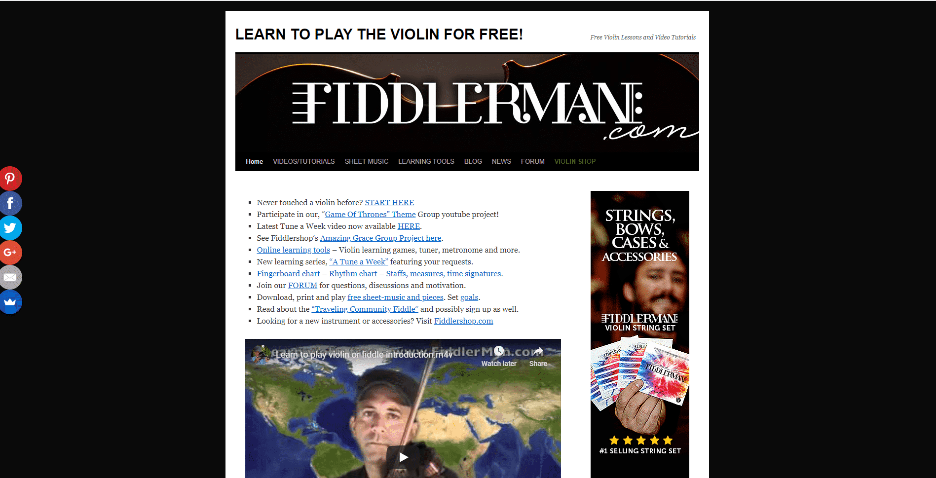 Fiddlerman Learn violin lessson for Intermediate