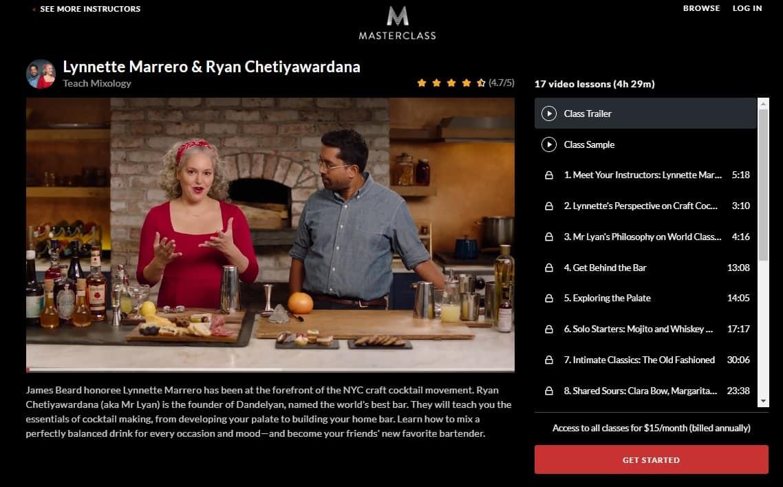 MasterClass Lynnette Marrero & Ryan Chetiyawardana Mixology Lesson Review