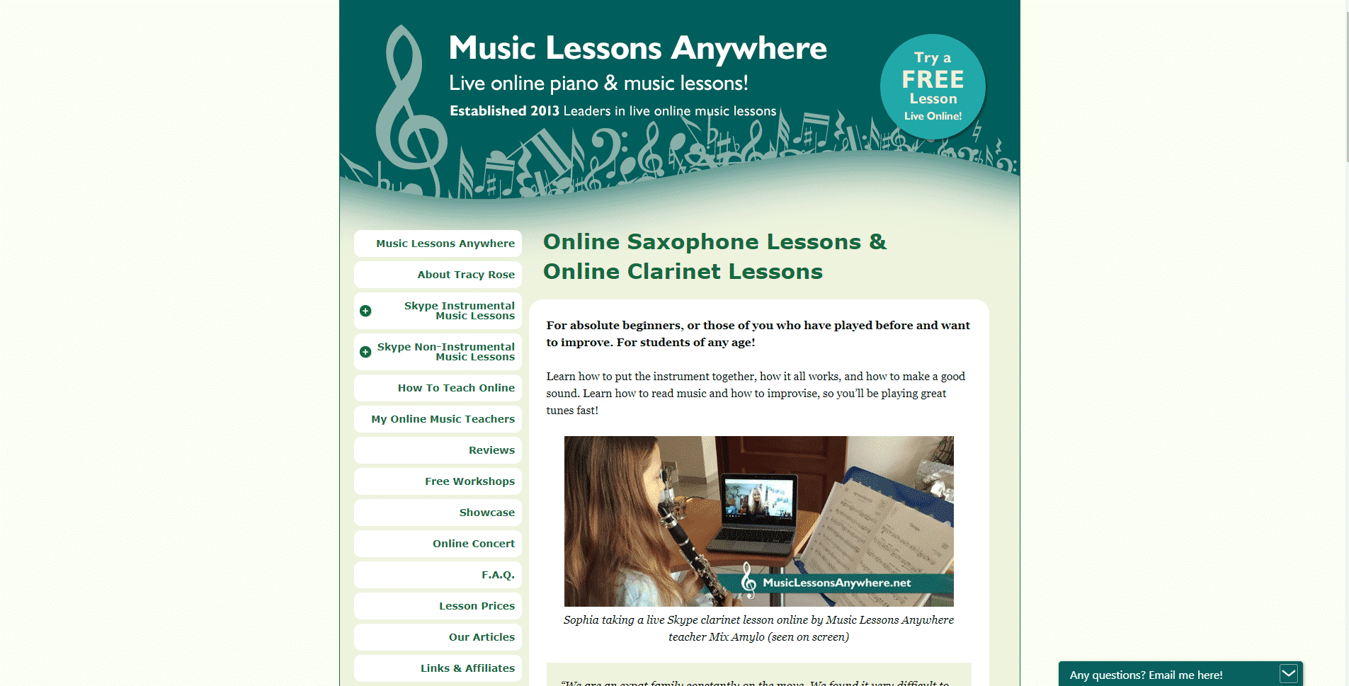 Music Lessons Everywhere Clarinet Lessons for Intermediate Online