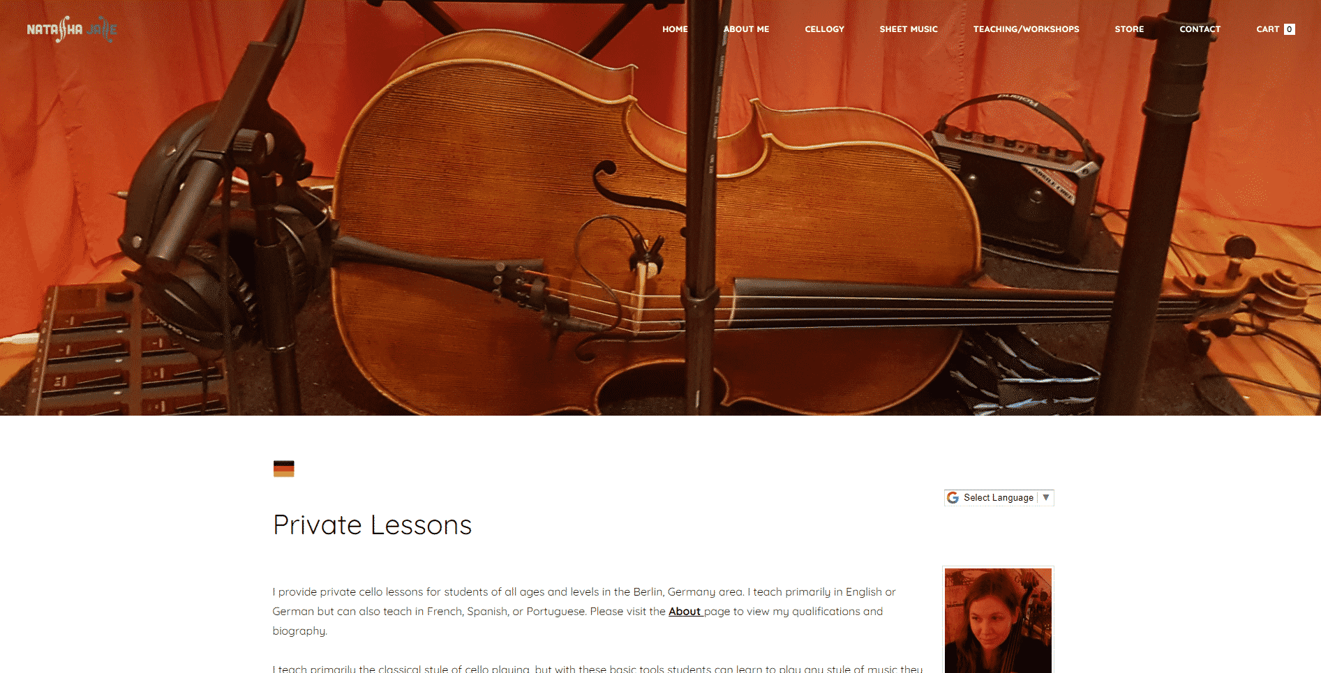 Natasha Jaffe Cello Lessons for Intermediate Online