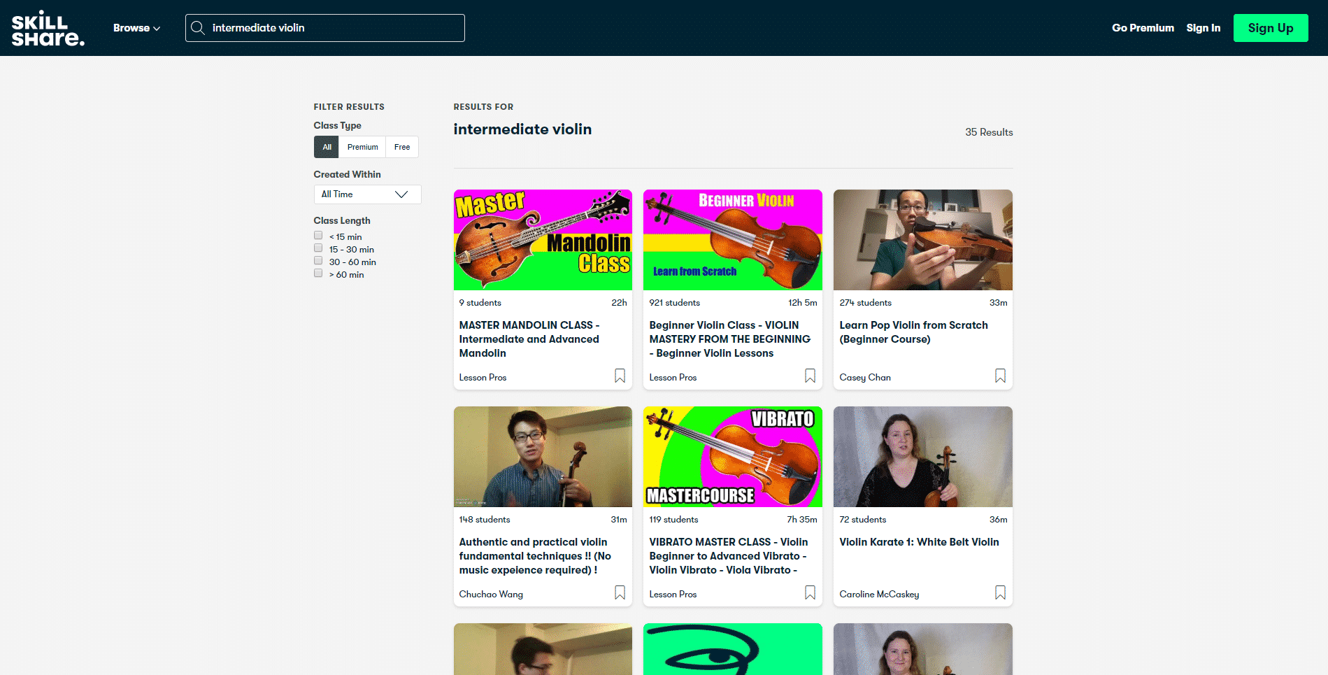SkillShare Learn violin lessson for Intermediate