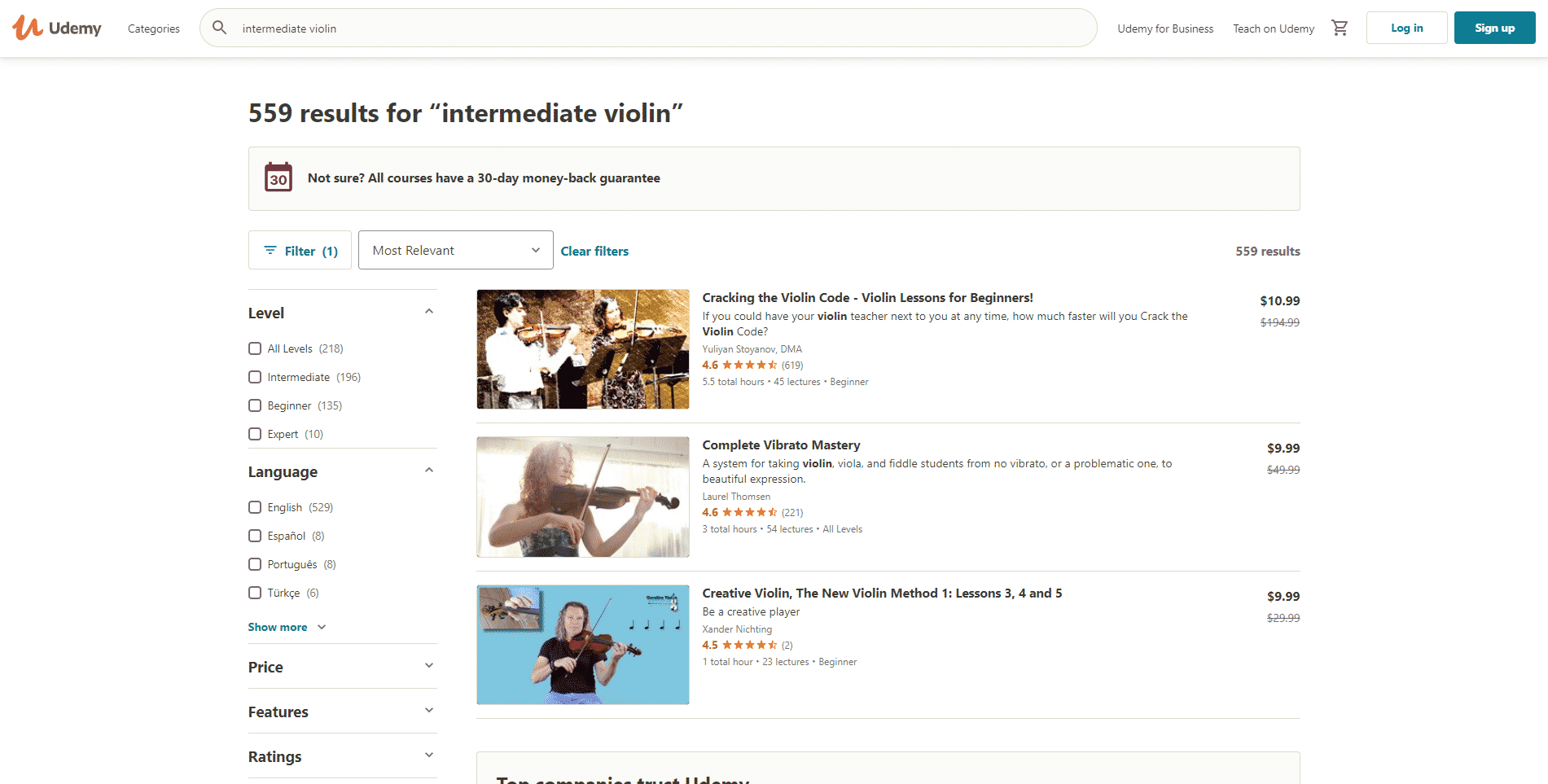 Udemy Learn violin lessson for Intermediate