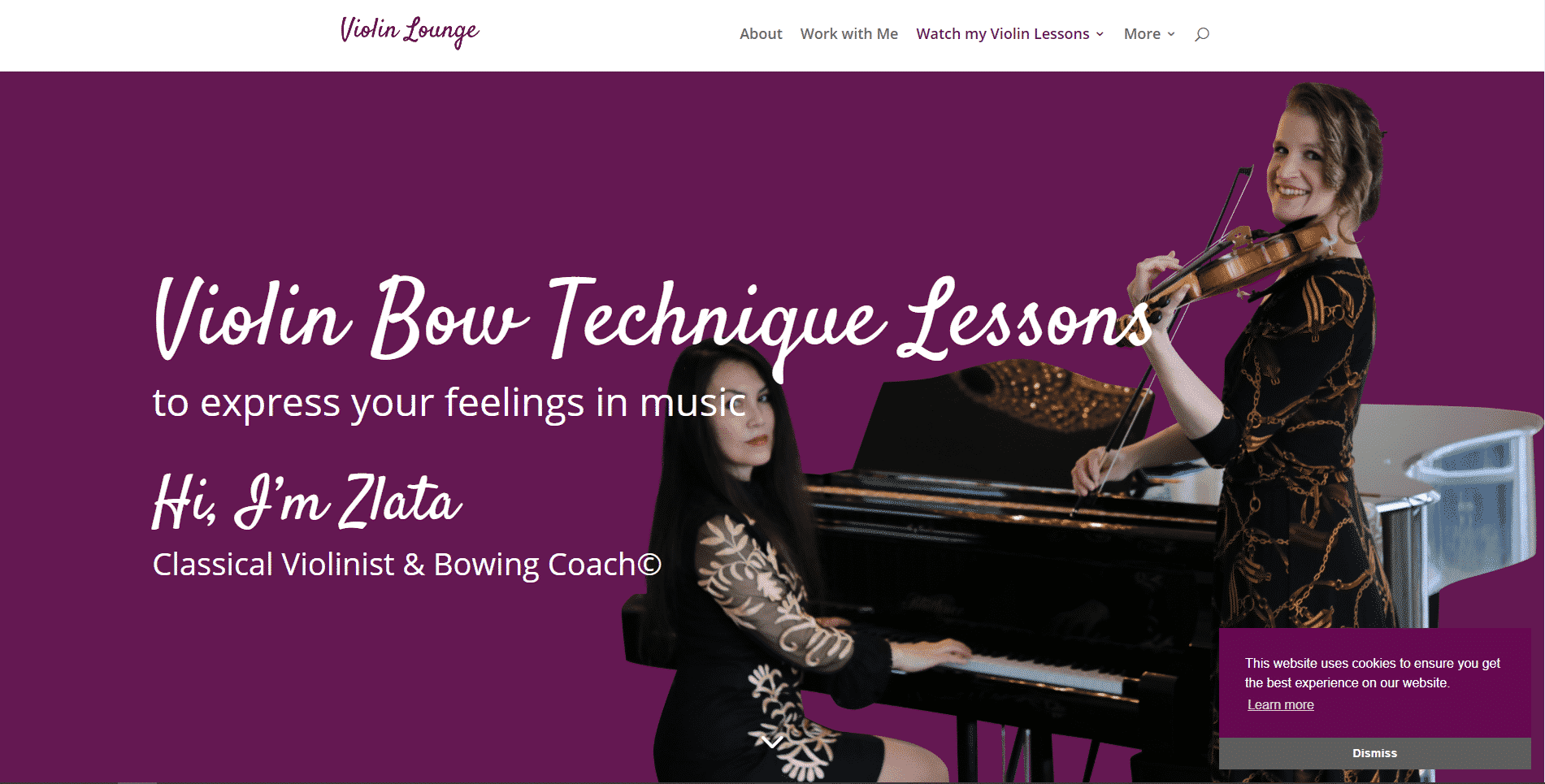 Violin Lounge Learn violin lessson for Intermediate