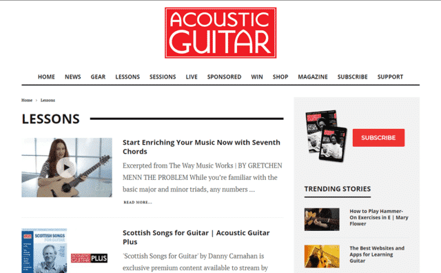 AcousticGuitar Learn Acoustic Guitar Lessons Online