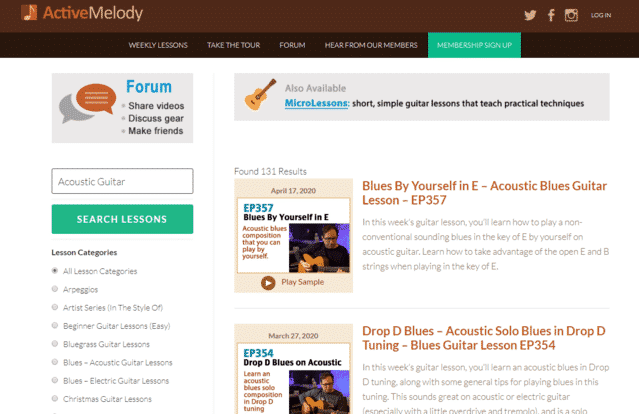 ActiveMelody Learn Acoustic Guitar Lessons Online