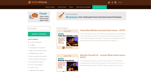 ActiveMelody Learn Blues Guitar Lessons Online