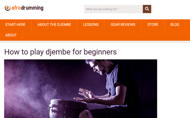 Afrodrumming Learn Djembe Lessons Online