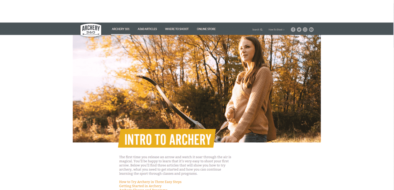 Archery360 Learn Archey Lessons Online