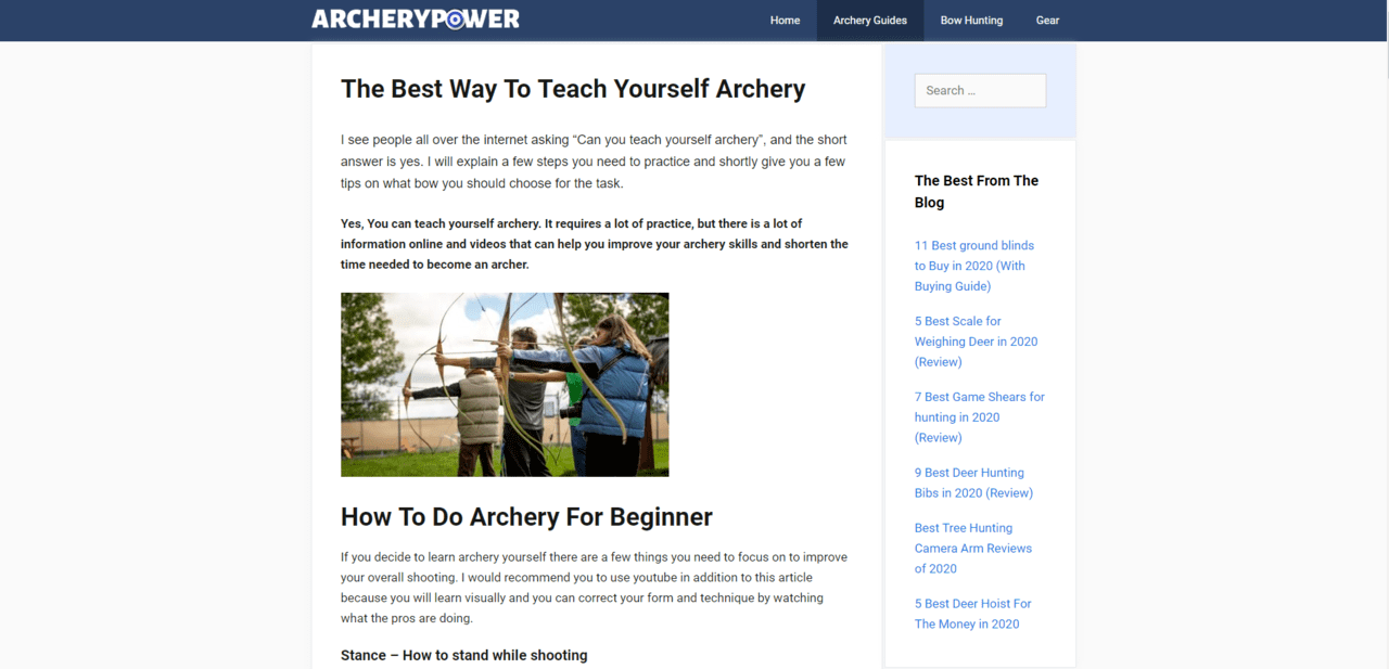 Archerypower Learn Archey Lessons Online