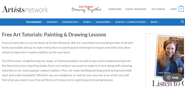 Artistnetwork Learn Drawing Lessons Online