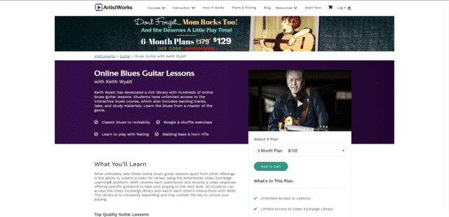 ArtistWorks Learn Blues Guitar Lessons Online