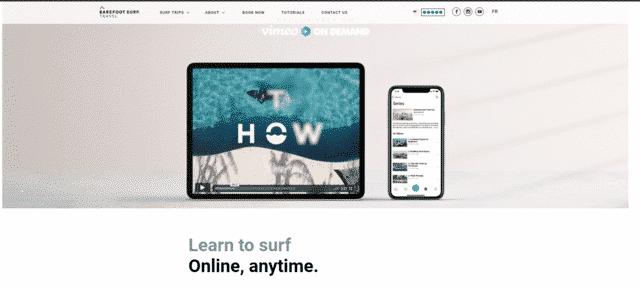 barefootsurftravell learn Surfing lessons online