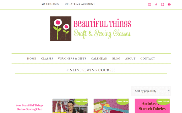 BeautifulThingsHq Learn Sewing Lessons Online