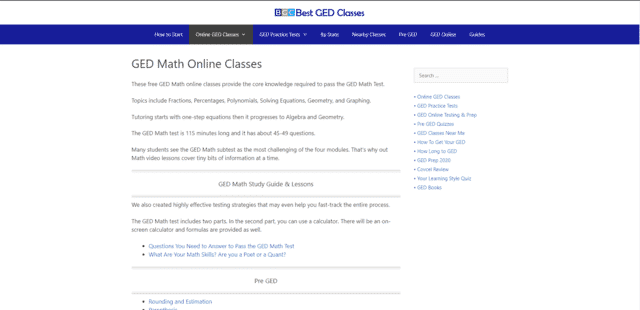 BestGEDclasses Learn GED Math Lessons Online