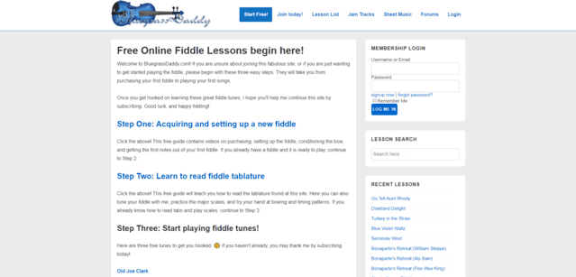 Bluegrassdaddy Learn Fiddle Lessons Online