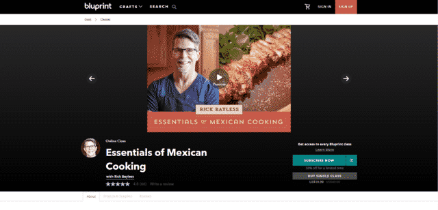 Bluprint Learn Mexican Cooking Lessons Online