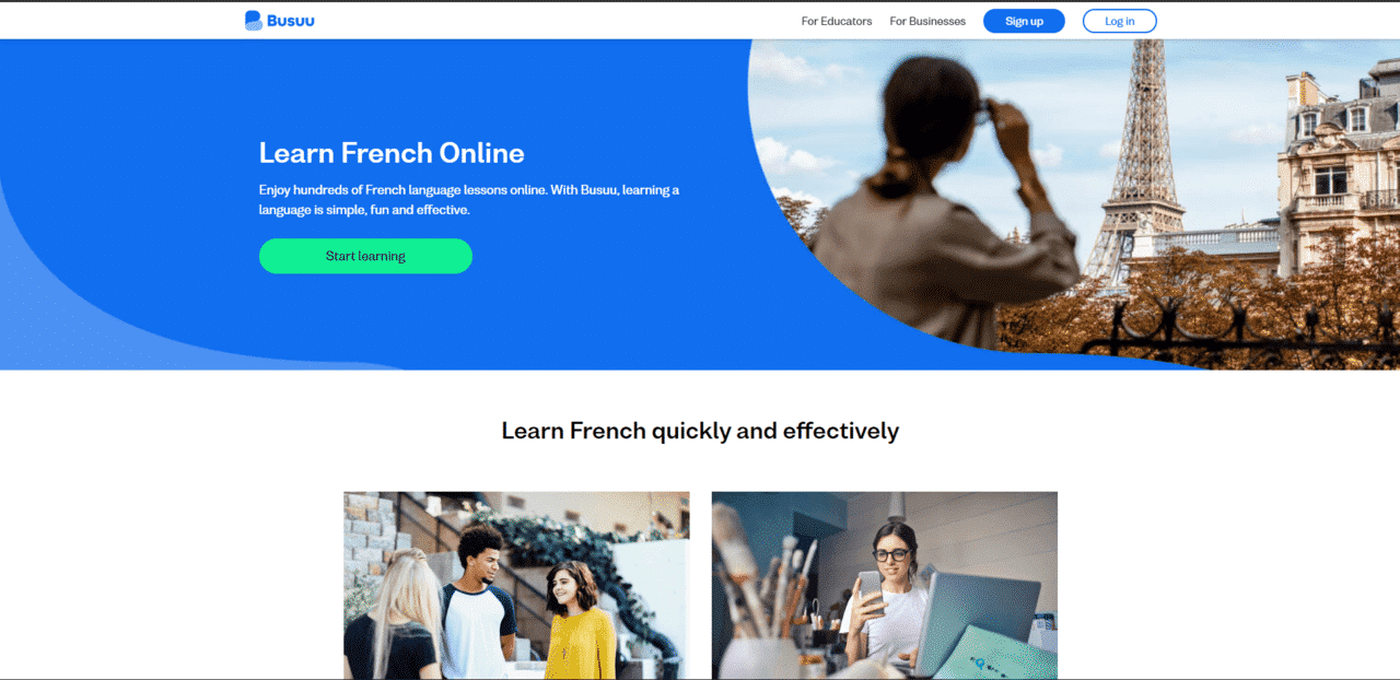 Busuu Learn French Lessons Online