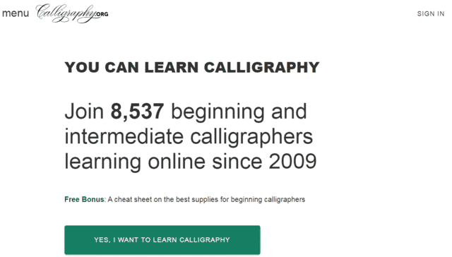 Calligraphy Learn Calligraphy Lessons Online